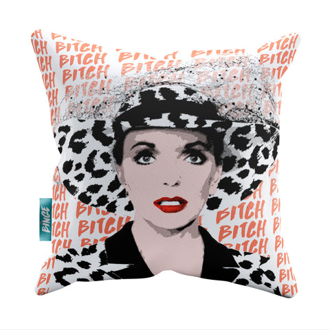 TV Queens - Joan Collins Dynasty Throw Pillow