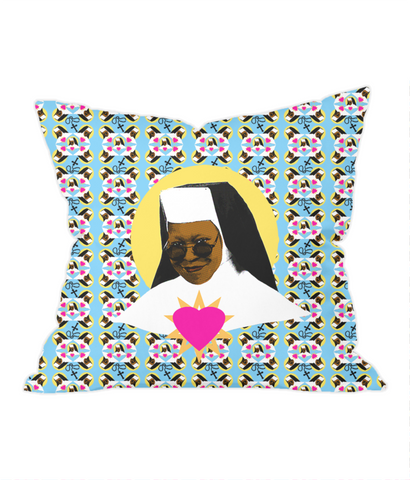 Virgin Delores Throw Pillow