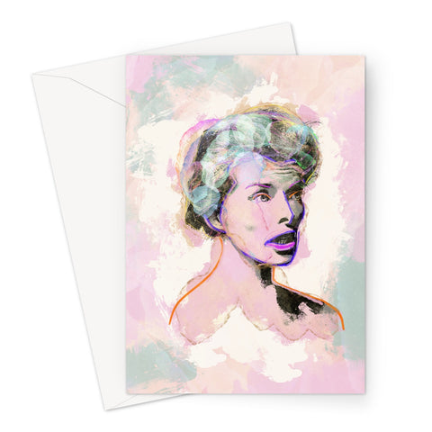 Hollywood Greats - Katherine Greeting Card