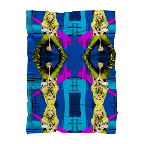 Britney Over Protected Premium Sublimation Adult Blanket