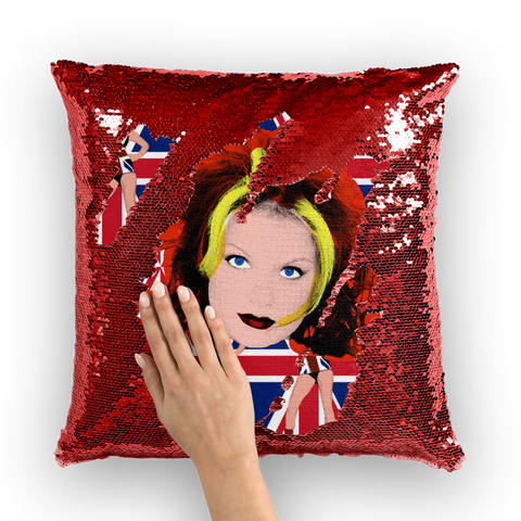 Geri Spice Sequin Cushion Cover
