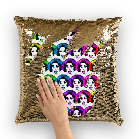 La Voix X Binge Pride Sequin Cushion Cover