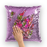 Audrey II Sequin Cushion Cover