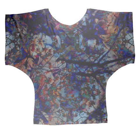 Black Orchid Sublimation Batwing Top