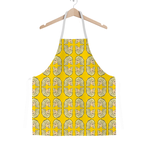 Dolly Mix Rhinestone Yellow Plain - XWayneDidIt Apron