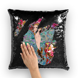 Celine Fleur Sequin Cushion Cover