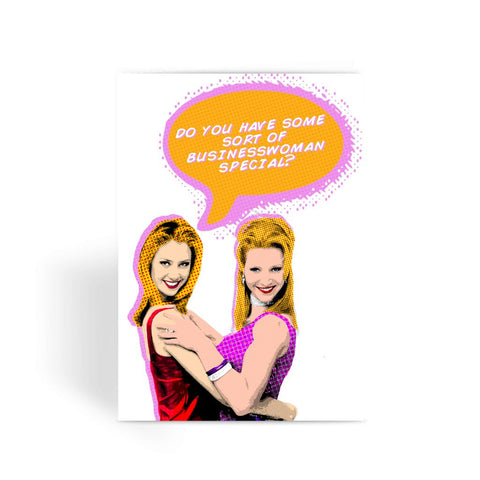 Comic Romy & Michelle Greeting Card