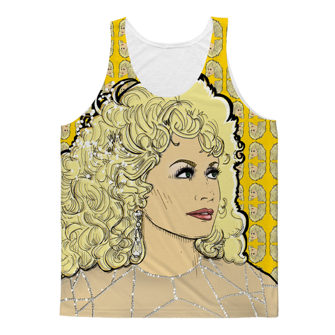 Dolly Mix Rhinestone Mustard - XWayneDidIt Fashion Tank
