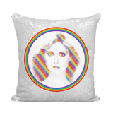 Olivia Rainbow Xanadu Sequin Cushion Cover