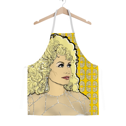 Dolly Mix Rhinestone Mustard - XWayneDidIt Apron