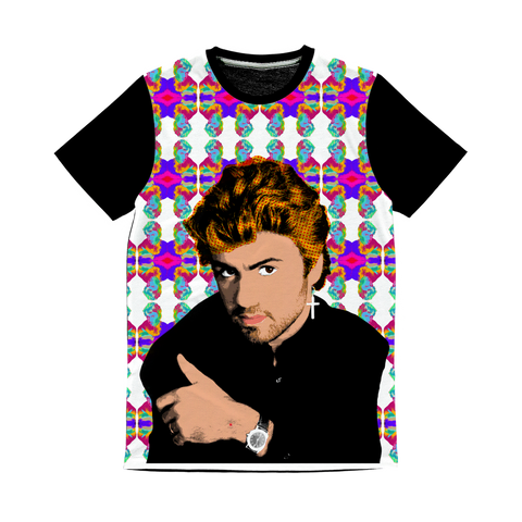 George Michael Classic Sublimation Panel T-Shirt