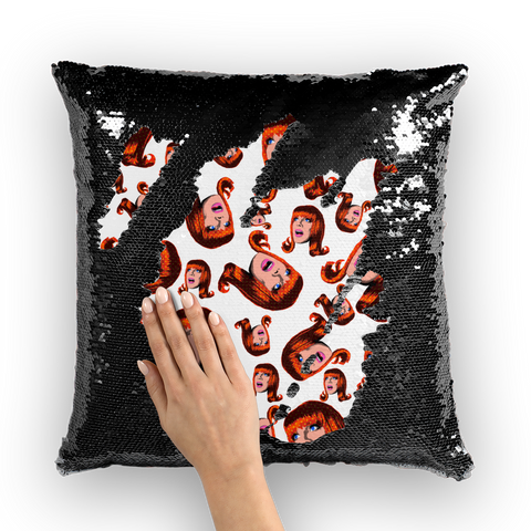 Coco Puff (White) - Miss Coco Peru X Binge (Limited Edition) Sequin Cushion Cover