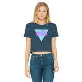 I'm Victoria Malcolm Spice Classic Women's Cropped Raw Edge T-Shirt