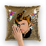 George Michael Sequin Cushion Cover