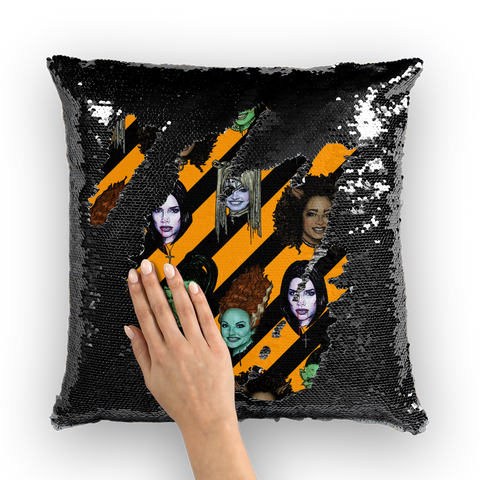 Spice Ghouls - XWayneDidIt Sequin Cushion Cover
