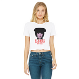 Mrs White - Clue Classic Women's Cropped Raw Edge T-Shirt