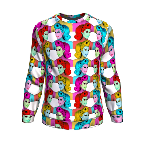 Blu Hydrangea X Binge - Mirrored Fashion Sweatshirt