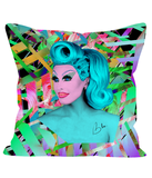 Blu Hydrangea X Binge - Pop Off Pillow