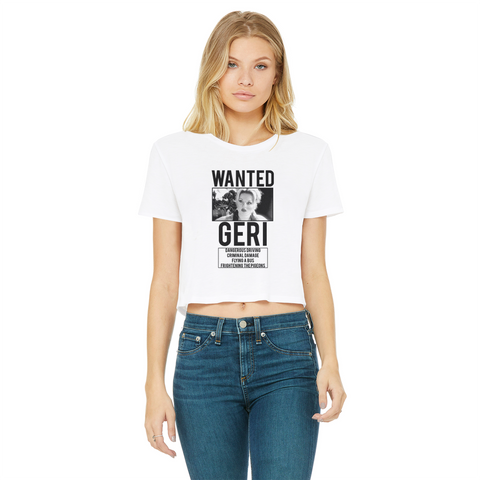 Spice Wanted Ginger Classic Women's Cropped Raw Edge T-Shirt