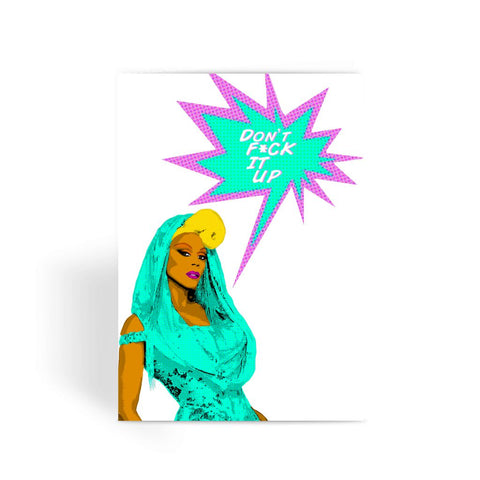 Comic - RuPaul F*ck It Up Greeting Card