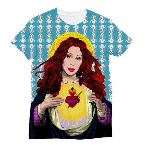 Cher - Virgin Mary Full Print Sublimation T-Shirt