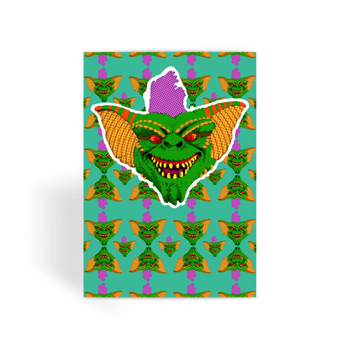 Gremlins - Stripe Greeting Card