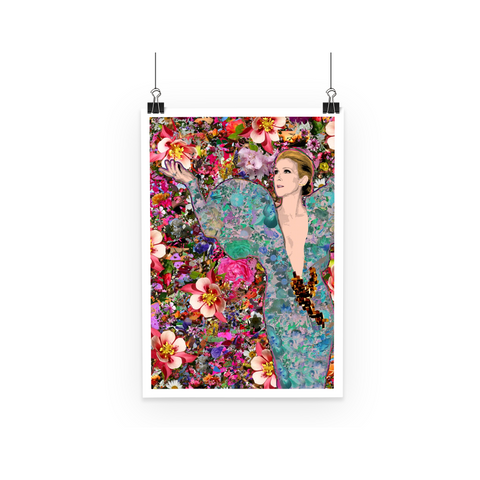 Celine Dion - Billboard Flowers Art Print