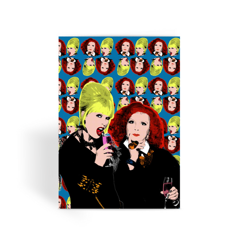 Ab Fab Greeting Card