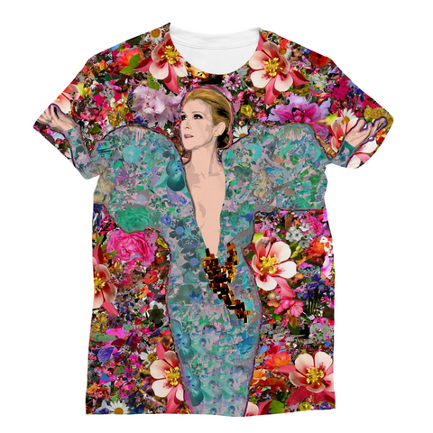 Celine Billboard Flowers Fashion Tee