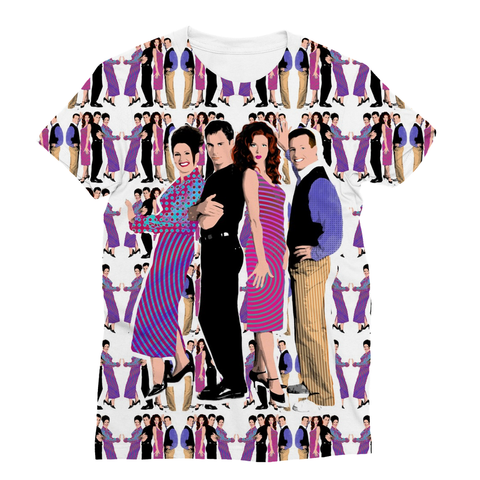 Will & Grace - Whole Gang V1 Fashion Tee