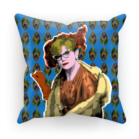 Clue - Mrs Peacock Cushion