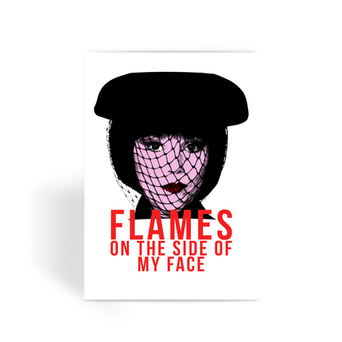 "Clue - Mrs White ""Flames"" Greeting Card"