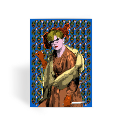 Mrs Peacock - Clue Greeting Card