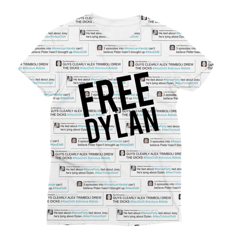 American Vandal - Free Dylan (No Dick) Sublimation T-Shirt