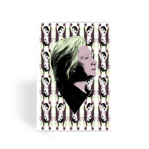 "Hillary Clinton ""Vogue"" Greeting Card"