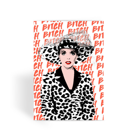 Joan Collins Greeting Card