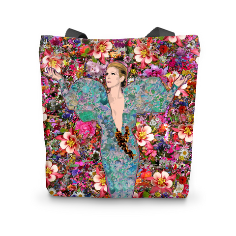 Celine Dion - Billboard Flowers Tote Bag