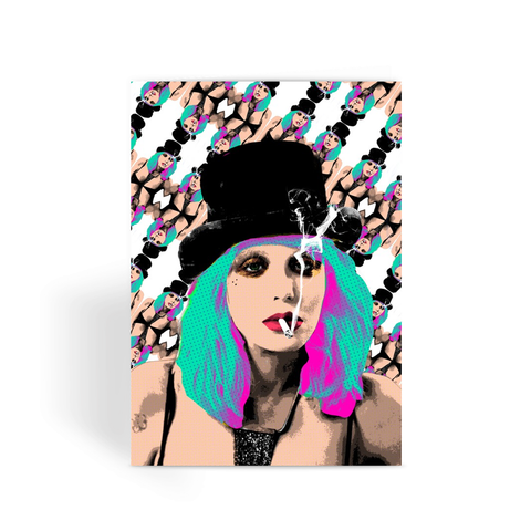 Courtney Love (White)- Bad Bitches Greeting Card