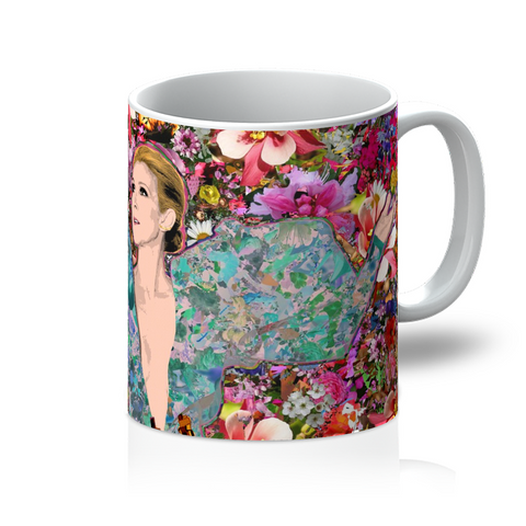Celine Dion - Billboard Flowers Mug