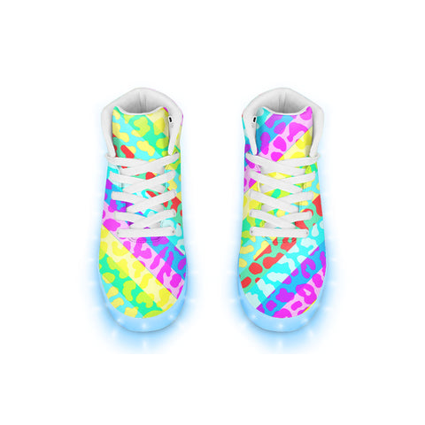 Rainbow Leopard  LED Hightops