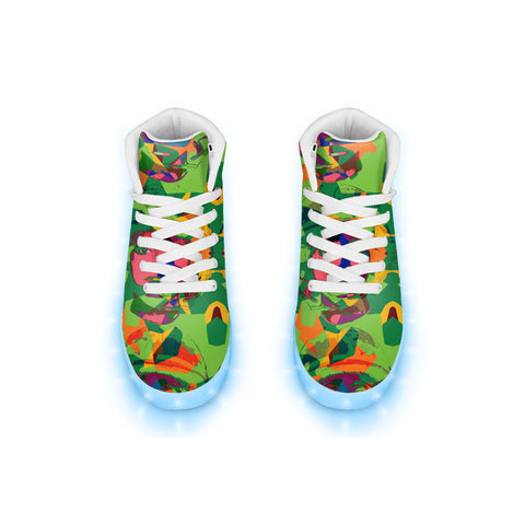 Cammo Pop LED Hightops