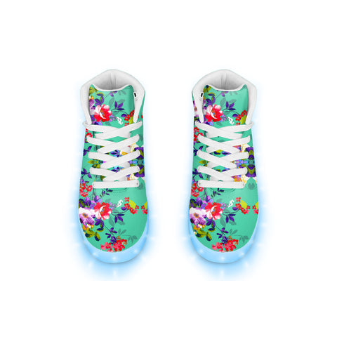 Choral Floral LED Hightops