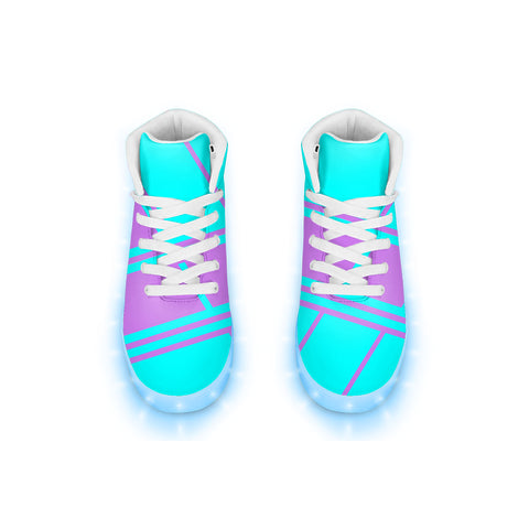 Electric Neon LED Hightops