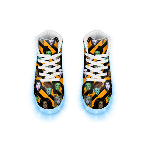 Spice Ghouls Halloween - LED Hightops - XWayneDidIt