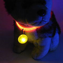 Flashing Glow LED Collar Pendant - For Pets