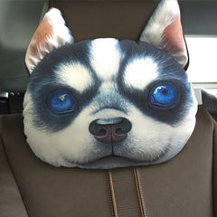 3D Printed Dog Face Car Headrest