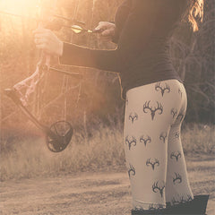 3D DEER PRINT LEGGINGS