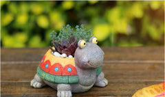 Handmade Turtle flower pot (Memorial Day Weekend Special Sale!)