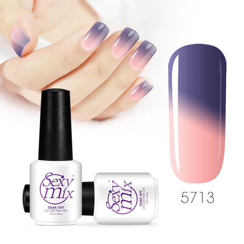 Color changing nail polish - Thistle the day away