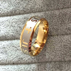 Gold Jesus Ring - Free Shipping